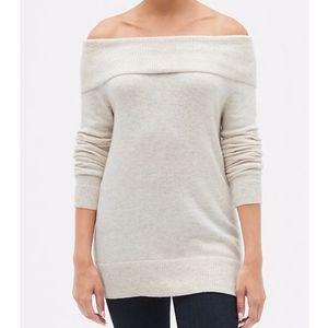 Gap Women's M Off Shoulder Tunic Length Sweater